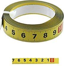 Ruban à mesurer en acier métrique 0.5 `` ruban