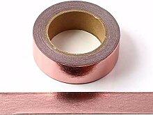Ruban adhésif décoratif en feuille d'or rose