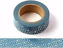 Ruban adhésif décoratif Washi Starburst bleu et