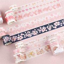 Ruban adhésif Sakura motif fleurs Washi,