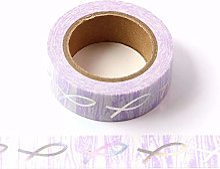 Ruban adhésif Washi avec nœud violet