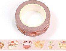 Ruban adhésif Washi coloré pour cupcakes 15 mm x