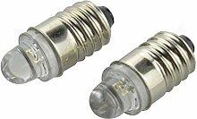 Ruiandsion Lot de 4 ampoules LED E10 pour lampe