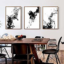 Rumlly Style Chinois Noir Blanc Encre Liquide