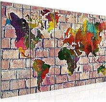 Runa Art Peinture XXL Carte Du Monde 200 x 80 cm