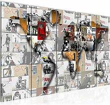 Runa Art Peinture XXL Carte Du Monde Banksy