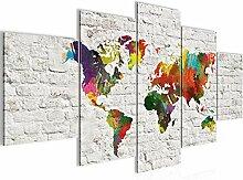 Runa Art - Tableau Carte Du Monde 200 x 100 cm 5