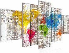 Runa Art - Tableau Carte Du Monde Abstrait 200 x
