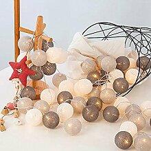 Runaup 20 LED Boule de coton Guirlandes lumineuses