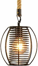 RUNNUP Lustre industriel Vintage Rope LED E27