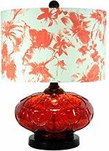 RUNWEI Lampe De Table Tissu Abat-Jour Lampe De