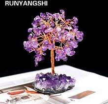 Runyangshi – Sculpture d'arbre en cristal,