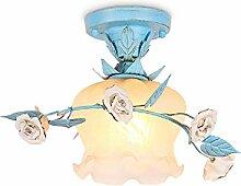 Rustique Style Plafonnier Élégant Fleurs Lampe