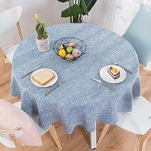 RZCortinas – nappe ronde en coton et lin pour