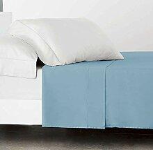 SABANALIA Combina Drap de Dessus Lit 160 cm Bleu