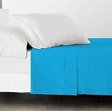 SABANALIA Drap Plat Combina Lit 160 cm Turquoise