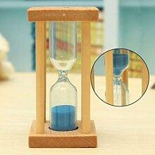 Sablier en verre de sable en bois, 1/3/5 minutes,