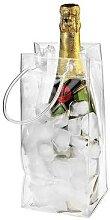 Sac à glace Transparent en PVC, Portable, seau à