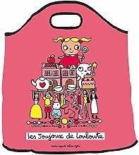 Sac à jouets Louloute rose - Derrière la porte