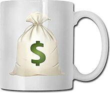 Sac d'argent tasse à café en céramique avec