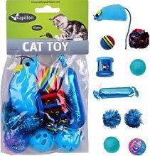 Sac de jouets pour chats - 10 pièces  Violet