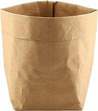 Sac en Papier Kraft Lavable Réutilisable Pots de