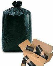 sac poubelle 50l anthracite 28µ - rouleau de 20