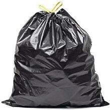 sac poubelle noir 50l liens coulissants