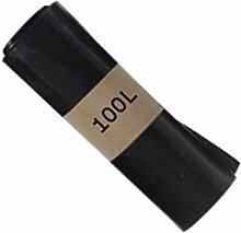 SAC POUBELLE NOIR HAUTE RESISTANCE - 100 litres -