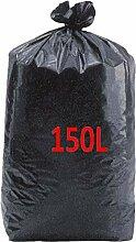 SAC POUBELLE NOIR HAUTE RESISTANCE - 150 litres -