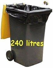 SAC POUBELLE NOIR HAUTE RESISTANCE - 240 litres -