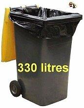 SAC POUBELLE NOIR HAUTE RESISTANCE - 330 litres -