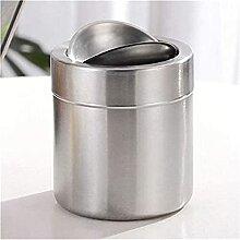sacfun Bureau en acier inoxydable Mini poubelle de