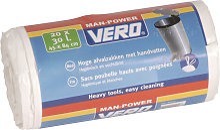 Sacs poubelle 30L Vero Blanc (20 Pièces)