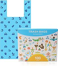 Sacs poubelle à couches biodégradables, sacs à
