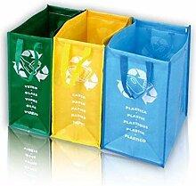Sacs pour tri sélectif 3 sacs poubelle pratiques