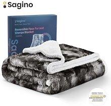 Sagino – couverture polaire douce en fausse