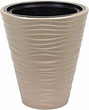 Sahara cache-pot 35 cm en plastique, couleur beige