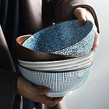Saladiers, 8 pouces japonais ramen bol céramique
