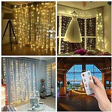 SALCAR 3M 300 LEDs Rideau de Lumière de Noël