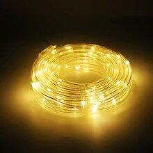 Salcar Guirlande Tube Lumineuse LED 10m, Solaire