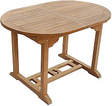 SALENTO - Table de Jardin Ovale Extensible en Teck