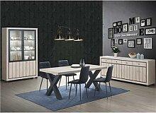 Salle à manger complète couleur bois naturel