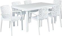 Salle à manger de jardin DIADEME - Table + 6