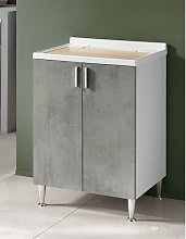SALLY 60x50 cm laundry room sink cabinet with 2