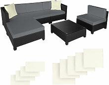 Salon bas de jardin AMY 5 places avec 2 sets de