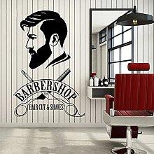 Salon de coiffure autocollant de fenêtre à la