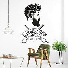Salon de coiffure autocollant de fenêtre Hipster