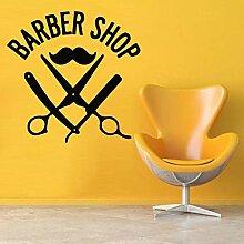 Salon de coiffure décor coiffeur moustache vinyle