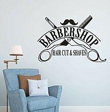 Salon de coiffure fenêtre vinyle autocollant